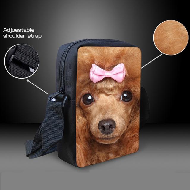 Kids Dog Print Messenger Bags