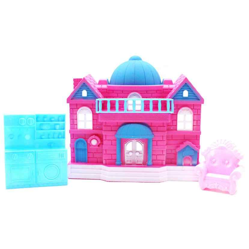 2019 New Fashion Delights Pet Retreat Sweet House Toy Big Family House Castle For Little Pet Shop Gift Hot sale