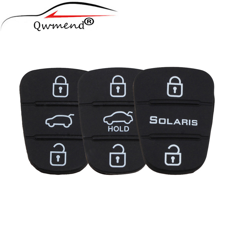 Replacement Rubber Button Pad For Hyundai Solaris Flip Remote Car Key Shell
