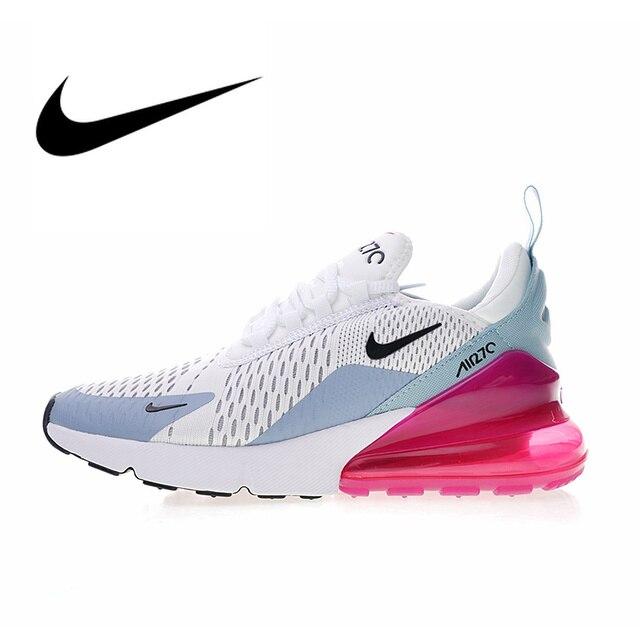 fb92383e3c Sepatu Nike AIR MAX 270 Wanita Bernapas Sepatu Lari Olahraga Outdoor Sepatu  Kualitas Atletik Desainer Sepatu
