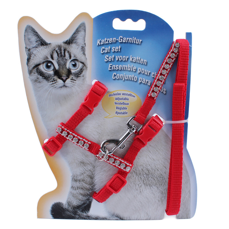 Pet Harness Nylon Leash Lead Leak Set Set Adjustable Control - Produkte për kafshet shtëpiake - Foto 4