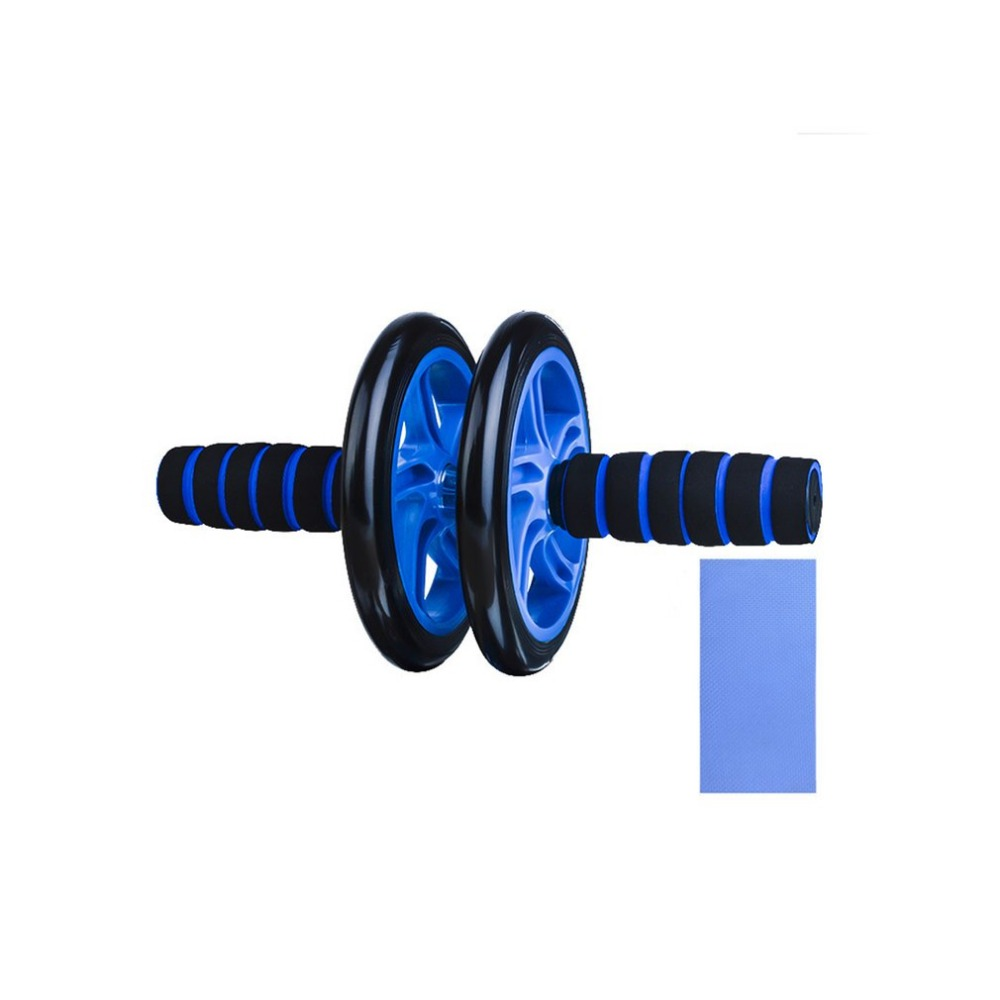 Abdominal Fitness Wheel Workout Gym Roller for Arms Back Belly Core Trainer Roller Double Wheels Fitness Equipment Free Shipping