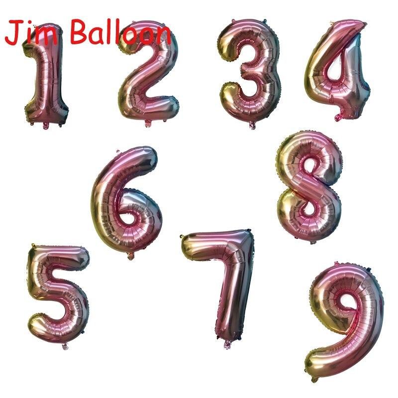 Newly Rainbow Unicorn Helium Foil Balloon Baby Shower Kids Birthday Party Decor
