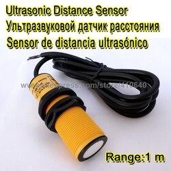 Zakres regulowany ultradźwiękowy zakres przetwornika 1 metr wyjście 0 do 5V napięcie robocze 12 do 24vdc mała strefa niewidomych