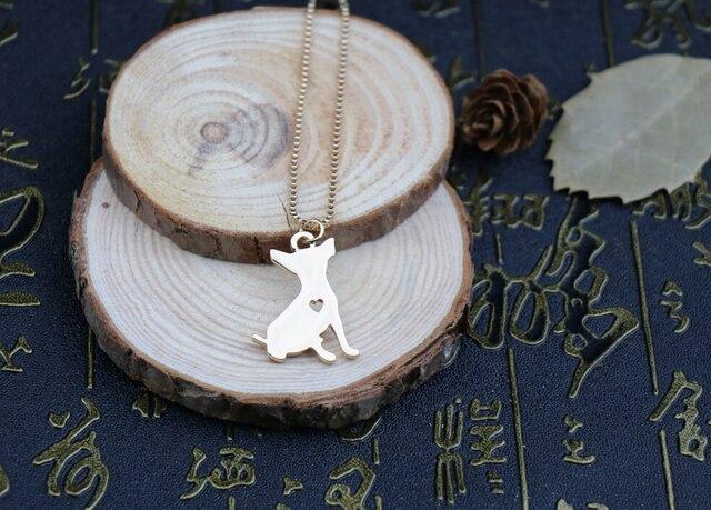 Купить 1 шт модное милое ожерелье чихуахуа металлическая подвеска в