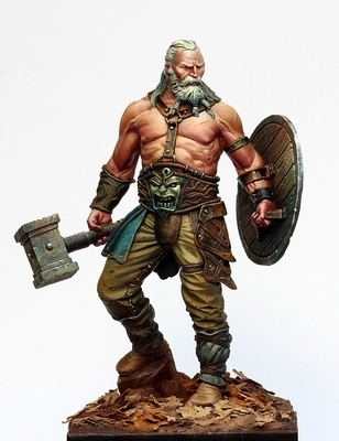 1/24 Scale 75MM Fantasy Movie Game Role Old barbarian