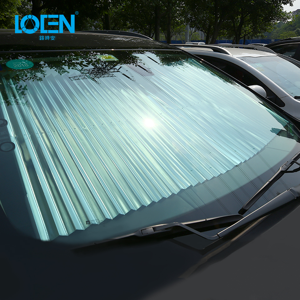 Universal Fit Baofu Cute Owl Windshield Sunshade Foldable Car Auto Front Window Sun Shade Accordion for Truck SUV Cover to Keep Your Vehicle Cool 55 x 27.6 Inch