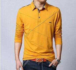 6XL Mens Polo Shirt Long Sleeve 2015 Spring Summer Plus Size M-6XLRoupas Masuclina Polo Lycra Cotton  High Quality Men Polo 6XL