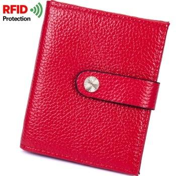 RFID Wemen's short wallet multicolored Anti Radio frequency identification anti stealing wallet