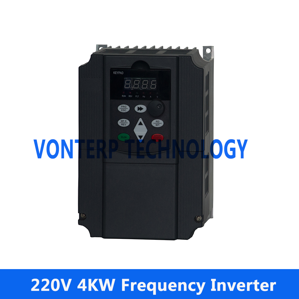 4kw frequency inverter, variable frequency converter for water pump and fan blower,220v 1 phase input & 3 phase output AC Drives