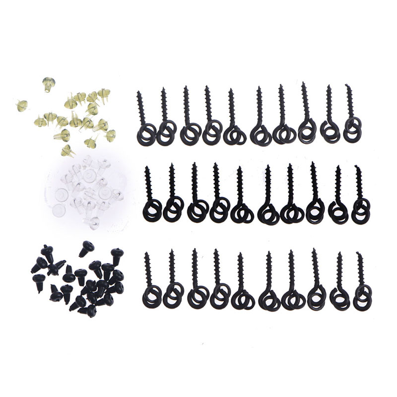 20pcs New Fishing Accessories Boilie Screw Peg with Ring Swivel Chod Rig Terminal Tackle Bait Holder Carp