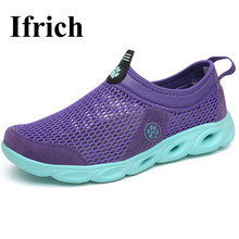Ifrich New Beach Water Shoes For Woman Comfortable Girls Shoes For Water Sports Summer Quick Dry Shoes Aqua Sneakers Cheap