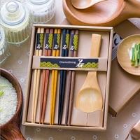 Creative Wooden Dinnerware Set Bamboo Japanese Style Kitchen Cooking Utensil Tool Wood Catering Dinnerware Sets JJ422