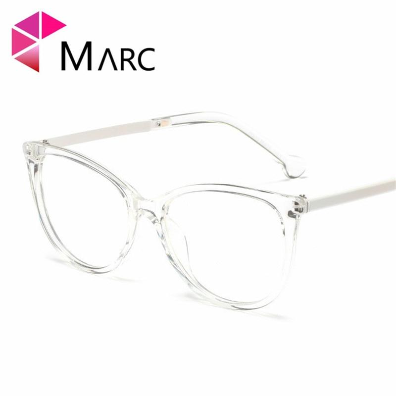 MARC 2019 Clear lens Fashion Women Men Trend Frame Glasses Eye wear Square Oversized Transparent Solid Blue Demi 1 in Women 39 s Eyewear Frames from Apparel Accessories