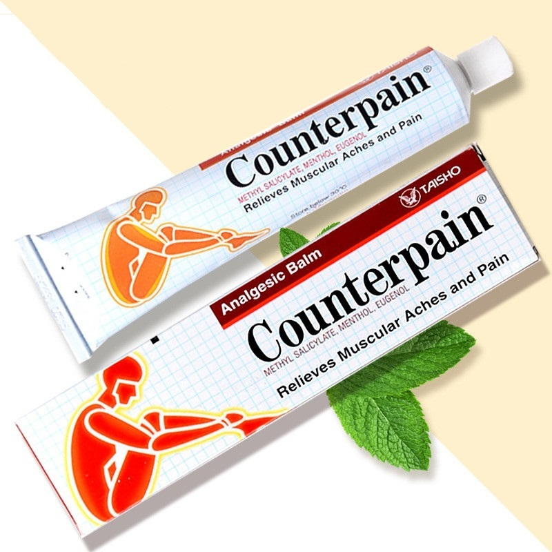 120g Counterpain Analgesic Ointment Relieves Joint Arthritis Pain Muscle Ache Sports Injury Sprain Massage Thailand