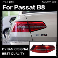 AKD Car Styling for VW Passat B8 Tail Lights 2017 New Passat LED Tail Lamp LED DRL Dynami Signal Brake Reverse auto Accessories