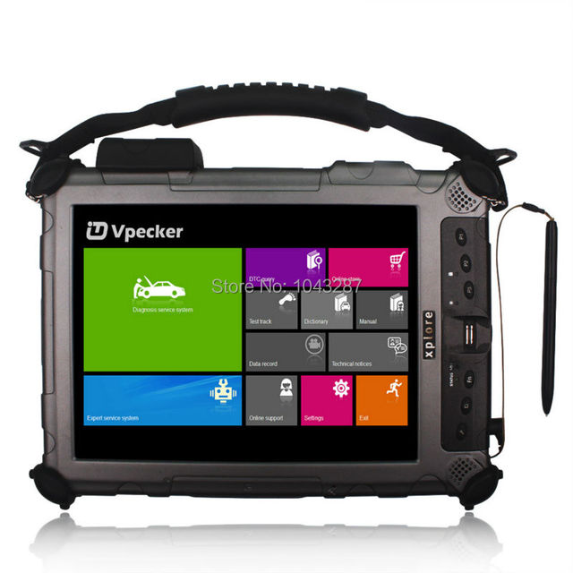 Easydiag vpecker wifi sem fio obd2 ferramenta de diagnóstico completo v8.8 instalar no Carro de Diagnóstico Tablet Xplore IX104 Com I7 4 GB DHL livre