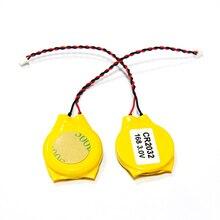 CR2032 2032 2 шт./лот провод батареи 2pin Материнская плата ноутбука биос CMOS батарея с проводом разборка батареи аксессуары и запчасти