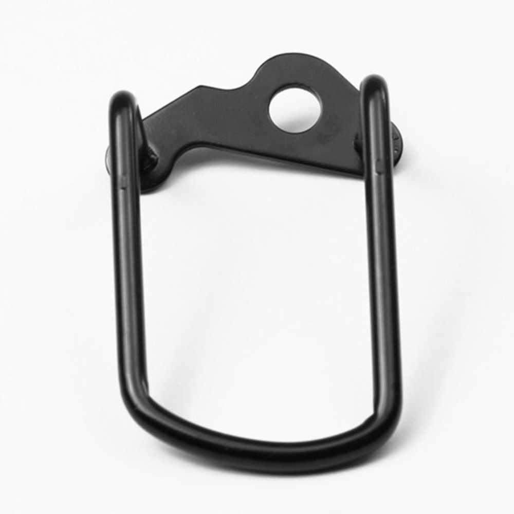 Noir vélo arrière dérailleur cintre chaîne garde d'engrenage protecteur couvercle VTT cyclisme Transmission Protection fer cadre