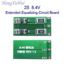 2S 7.4V 8.4V Li-ion Battery Extended Equalized Charging PCB  Board  Equalized Charging Current 100mA 300mA optional