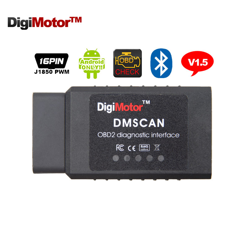 Digimotor PIC18F25k80 ELM327 V1.5 Bluetooth OBD2 ELM 327 V 1.5 OBDII Code Reader Diagnostic Tool Mini Scanner OBD 2 Car OBD-II