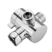 Shower Head Shunt G1/2 Inch Bathroom Three Way T Adapter Tee Connector Valve For Toilet Bidet Shower Head Diverter Valve