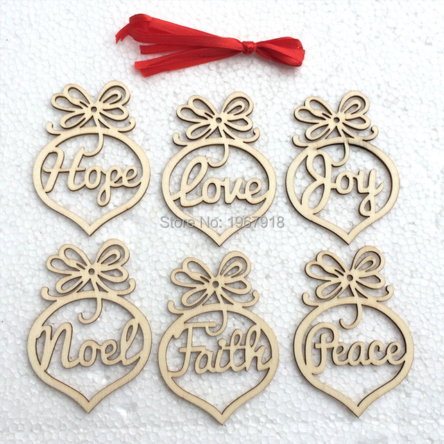 wholesale price hollow wood christmas ornaments christmas tree hanging decorations merry christmas gift xmas wooden pendants - Wooden Christmas Decorations Wholesale