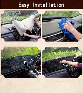 Image 5 - פלנל Dashmats לוח מחוונים מכסה דאש Pad רכב מחצלת שטיח לניסן גרנד Livina X gear Geniss 2007 2009 2012 2013 2014 2015