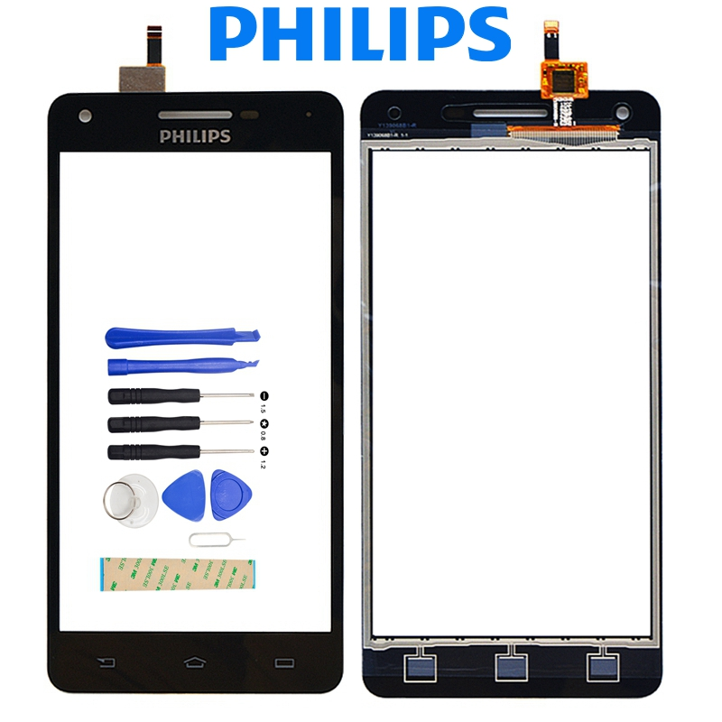 100% Testato NUOVO Philips Xenium V377 Pannello Del Sensore di Tocco Digitale Dello Schermo di Ricambio Philips V377 Touch Screen + Strumenti