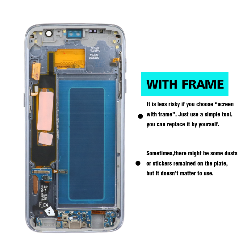 100 Original 5 5 Screen for SAMSUNG Galaxy S7 edge LCD Display G935F SM G935FD Touch 100% Original 5.5'' Screen for SAMSUNG Galaxy S7 edge LCD Display G935F SM-G935FD Touch Digitizer Assembly Replacement Parts