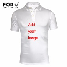 FORUDESIGNS 2017 New Arrival Polo Shirt Customize Man Polos Personalized Shirt Summer Short Sleeve 3D Printed