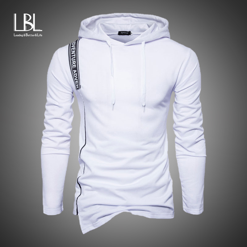 Fashion Autumn Hoodies Men Sweatshirts 2019 Male Stitching Hooded Hip Hop Long Sleeve Sweatshirt Men Slim Fitness Hoody Outwear