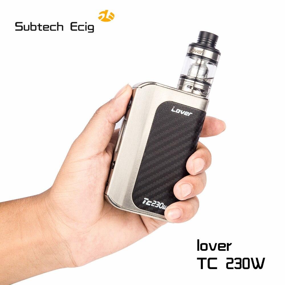 Original Kangvape Lover 230w box mod kit electronic cigarette High Power Vape Vaporizer Kit with Atomizer 2*18650 SS