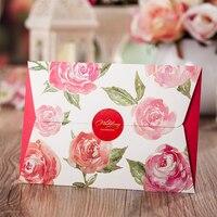 Çiçek Tasarım Bağbozumu Çiçek Düğün davetiyeleri Baskı Boş Cep Davetiye Kartları Kiti Convite Kağıt Yeni Stil