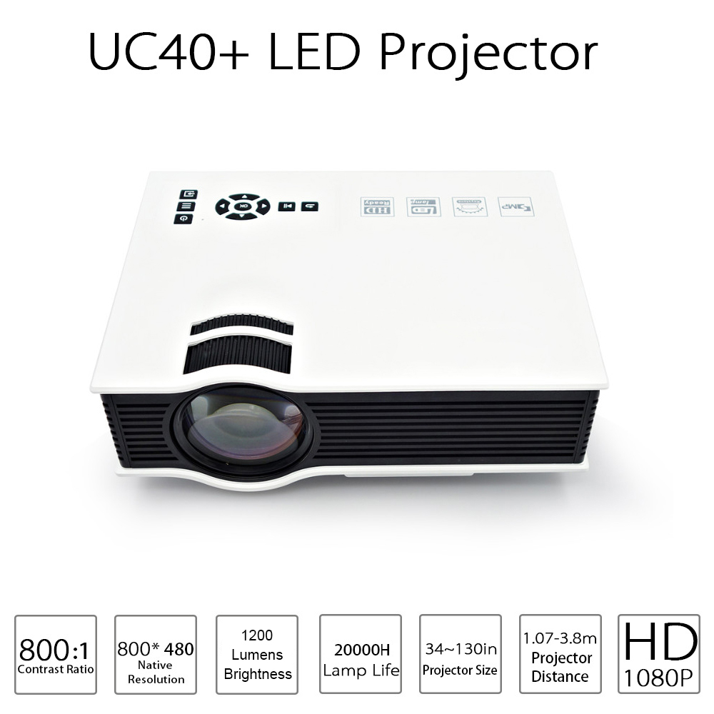 Proyector UC40 Home Theater Full-Hd 1080P Beamer Lumens Plus Cheap 1200 LED with HDMI