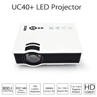 UC40 Plus LED Projector Projetor 1200 lumens Home Theater Beamer Cheap Proyector with HDMI AV SD VGA Support Full HD 1080P