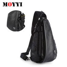 2019New Brand Genuine Leather for Men Chest Bag Fashion Shoulder Small Causal Message Bags High Quality