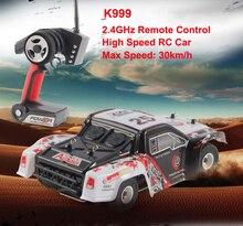 Высокое качество WL Игрушечные лошадки k999 1/28 2.4 г высокое Скорость Дистанционное управление RC автомобили Классические Игрушки Хобби/Moster грузовик