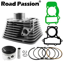 Road Passion Motorcycle Engine Front and Rear 2 Kit Cylinder + Piston + Rings 49mm (Cylinder diameter) For YAMAHA XV250 XV 250 motorcycle cylinder kit 250cc engine for yamaha majesty yp250 yp 250 170mm vog 257 260 eco power aeolus gsmoon xy260t atv