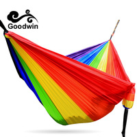 Outdoor High End Ultra Light Single Parachute Cloth Interior Quarters For Two Bedrooms Swing Hammock Tourist