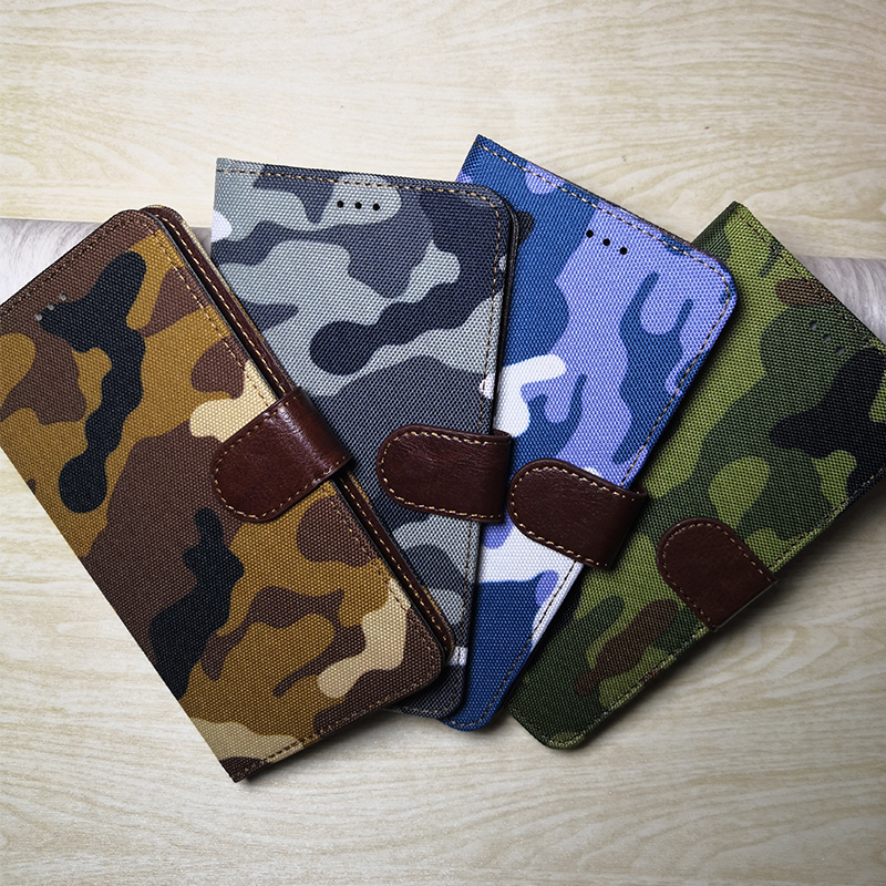 New Camouflage Wallet Flip Leather Phone <font><b>Case</b></font> For <font><b>Sony</b></font> <font><b>Xperia</b></font> Z1 <font><b>Z2</b></font> Z3 Z5 Compact E5 X XA1 XA2 Ultra XZ XZ1 XZS XZ3 L1 L2 Cover image