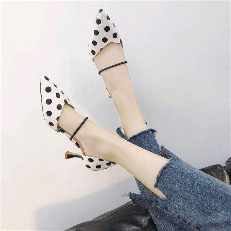 Correa Defilè 1 De Verano Primavera Planos 2 Mujer Punta Sandalias Baja Boca Moda 2019 Zapatos Tobillo TWPWn