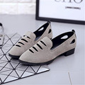 2017 Round head hollow out breathable casual shoes with flat pointed mouth shallow low work shoes with women's shoes