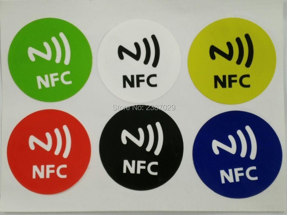Passive NFC Tag Proximity 13.56mhz Waterproof Dia 30mm NTAG213 RFID Sticker Label Smart Card for  Samsung Nokia Sony HTC Xiaomi waterproof contactless proximity tk4100 chip 125khz abs passive rfid waste bin worm tag for waste management
