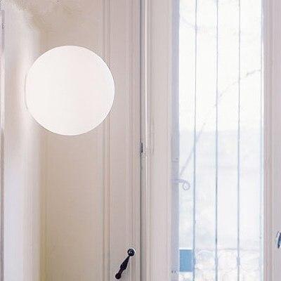 Illuminazione moderna Diametro 14 centimetri 25 centimetri 35 centimetri lampada da parete del riparo della parete di vetro bianco ombra luce Dioscuri parete soffitto lampada da soffitto-in Lampade LED a muro per interni da Luci e illuminazione su lighting solution Store