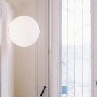 Modern lighting Diameter 14cm 25cm 35cm wall lamp wall sconce white glass shade light Dioscuri parete ceiling lamp soffitto