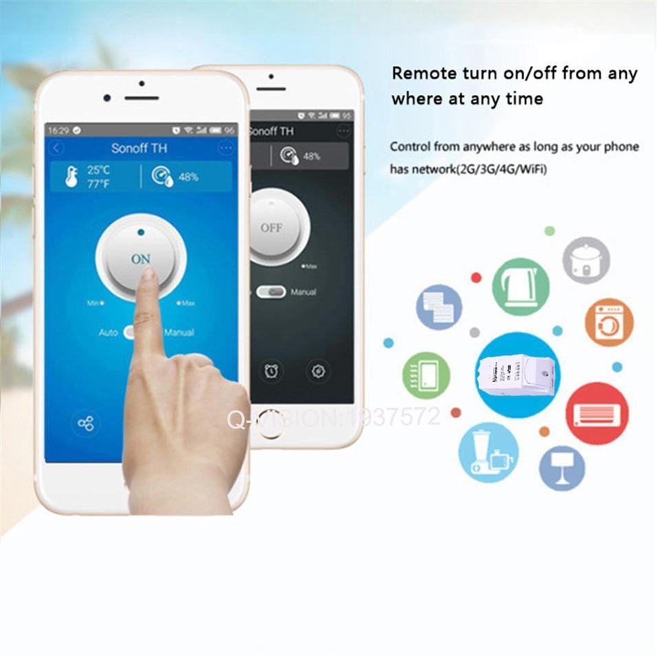 2017 NY Sonoff TH 16A WiFi Smart Fjärrkontakt Controller - Smart electronics - Foto 4