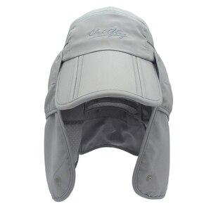 Image 5 - Marka szerokie rondo letnie słońce oddychająca ochrona przed promieniowaniem uv daszki kapelusz typu bucket ochrony przeciwsłonecznej rybak czapka wędkarska odpinany składana czapka