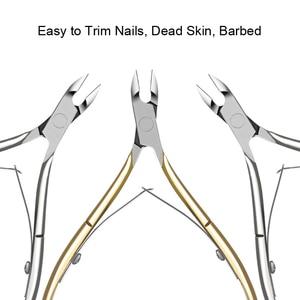 Image 4 - สแตนเลสสตีล Cuticle Nipper Professional Remover กรรไกรตัดเล็บทำเล็บมือเล็บ Dead Skin เครื่องมือ Gold และ Sliver