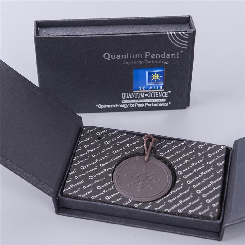 Fashion Quantum Volcanic Lava Stone Pendant Energy Necklace Energy Power Health Care Men Jewelry
